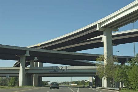 this is an elevated highway in Austin Texas. Stock Photo - 10975473