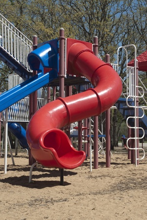 This is a part of a playground equipment outside in a nice sunny day. photo