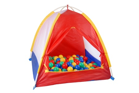 This is a colorful isolated tent toy with colorful balls. Stock fotó