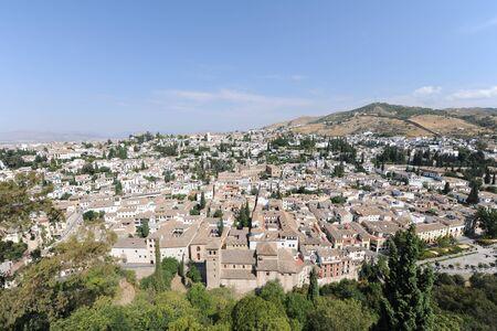 The Albaicin quarter of Granada, seen from The Alcazaba, The Alhambra, Granada, Andalusia, Spain Banco de Imagens