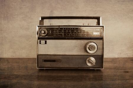 Old fashioned transistor radio, filters applied
