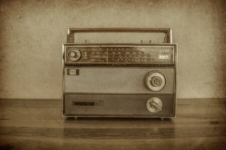 Old Transistor Radio, retro,  well used. With photographic filters applied