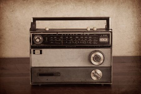 Old Transistor Radio, vintage,  well used. With photographic filters applied