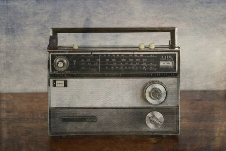 Old Transistor Radio, vintage, With photographic filters applied