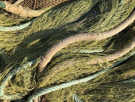 Fishing nets drying in the sun