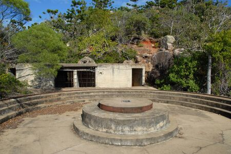 Ruins of the historic WWII fortifications at the summit of the Forts Walk, Magnetic Island, Queensland, Australia