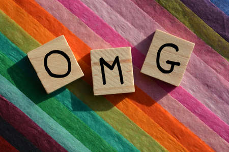 OMG acronym used in internet slang to express surprise or shock