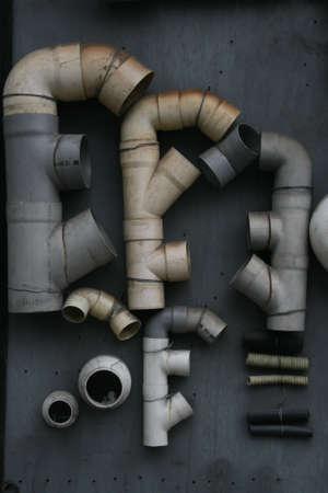 display of plastic drainpipes photo