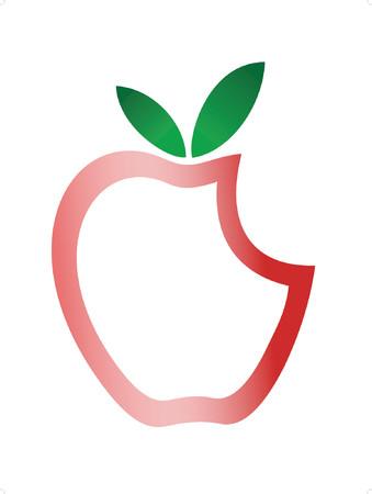 apple bite: Apple Illustration