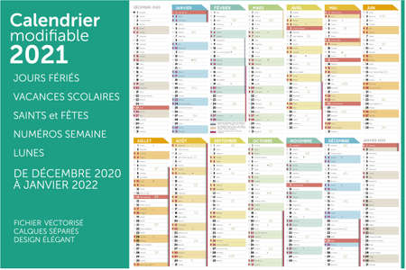 Calendar 2021 Ilustración de vector