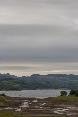 the bigger picture: scotisch landscape with water and hills Stock Photo