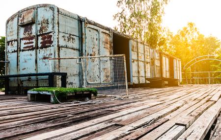 the old train bogies vintage tone.