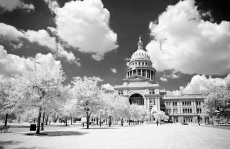austin: infrared shot of Texas State Capital Stock Photo