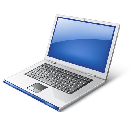 Vector illustration of laptop on white background Illustration
