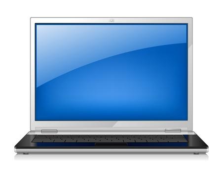 Vector illustration of laptop on white background Stock Vector - 11514264