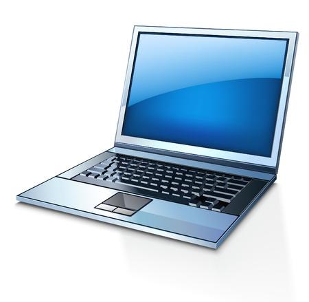 Vector illustration of laptop on white background Stock Vector - 11514271