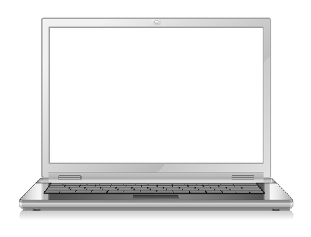 personal computers: Vector illustration of laptop on white background Illustration