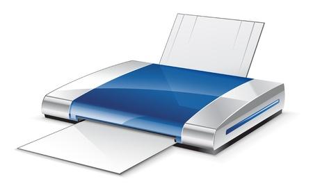printer cartridge: Vector illustration of printer on white background