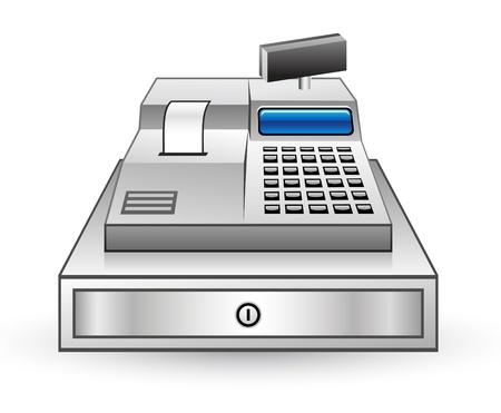 Vector illustration of cash register on white background Stock Vector - 11660762