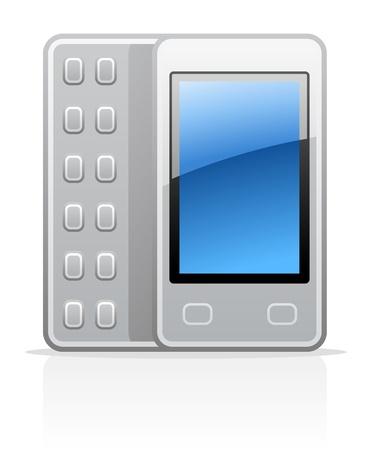 Vector illustration of communicator on white background Stock Vector - 11660832