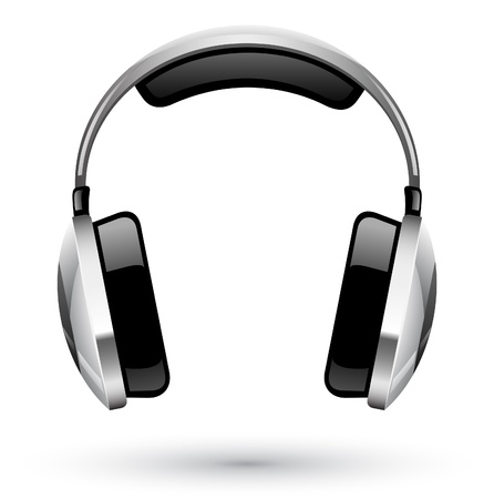 audio: Vector illustration of headphones on white background Illustration