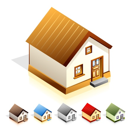 Vector illustration of house on white background Vector
