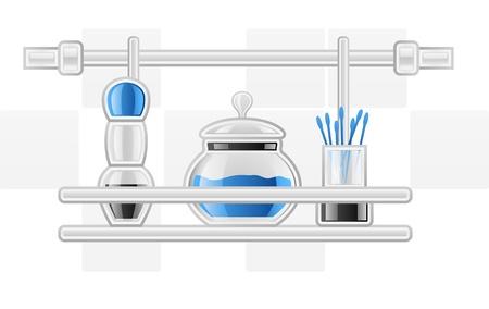 Vector illustration of hygiene items on white background Vector