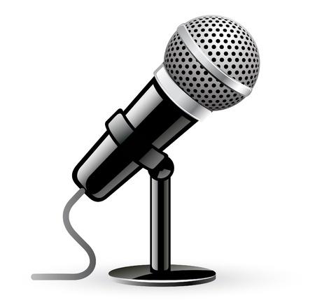 Vektor-Illustration von Mikrofon auf weißem Hintergrund