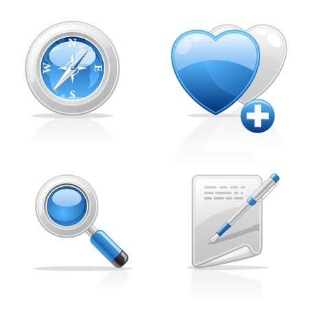 plus icon: Site navigation vector icons on white background