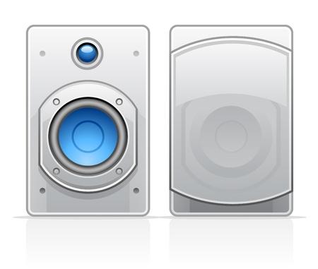 Vector illustration of speakers on white background Stock Vector - 11660792