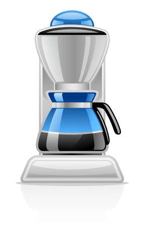 Vector illustration de Cafetière sur fond blanc