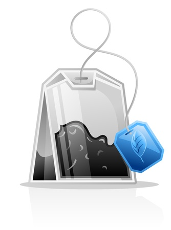 teabag: Vector illustration of Tea bag on white background