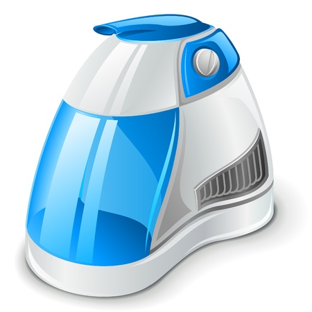 ions: Vector illustration of air humidifier on white background
