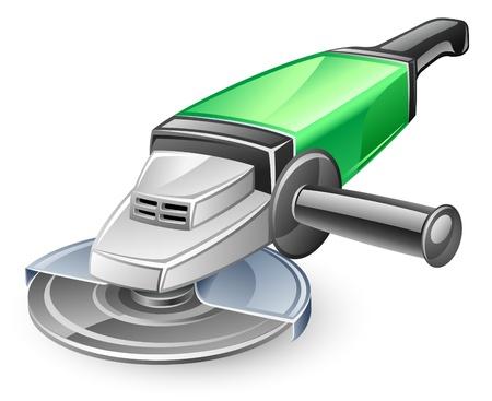 rotary: Vector illustration of angle grinder on white background Illustration