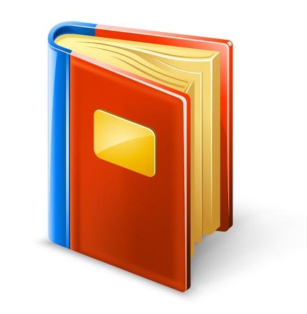 leeres buch: Vector Illustration Buch auf wei�em Hintergrund