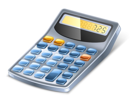 lay: Vector illustration of calculator on white background