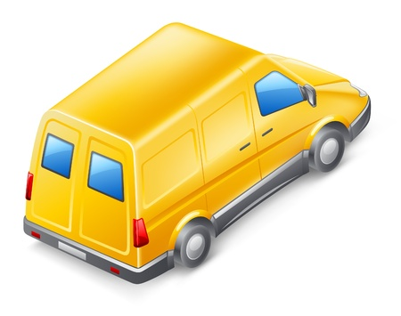 Vector illustration of van on white background  Stock Vector - 12413797
