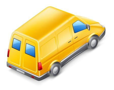 Vector illustration of van on white background Stock Vector - 12413797