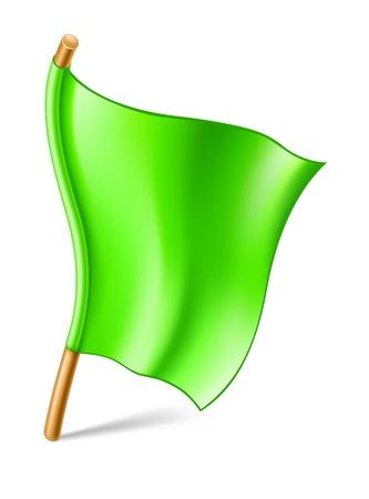 Vector illustration of flag on white background  Stock Vector - 12413775