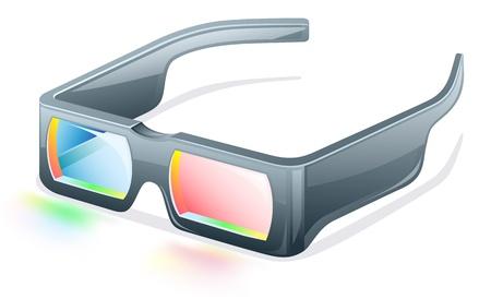 Vector illustration of 3d glasses on white background Stock Vector - 12413771