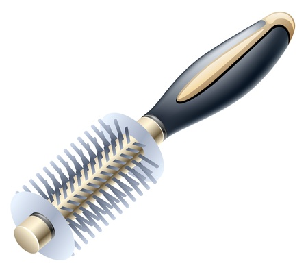 Vector illustration of hairbrush on white background Stock Vector - 12413772
