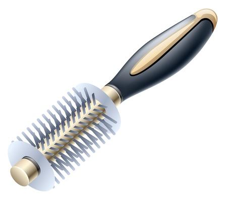 Vector illustration of hairbrush on white background Stock Vector - 12413772