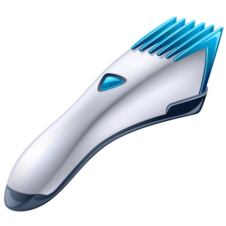 Vector illustration of barber machine - electric clipper on white background Vector