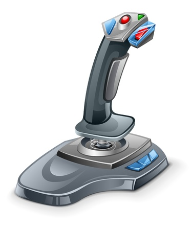 Vector illustration of joystick on white background Illustration