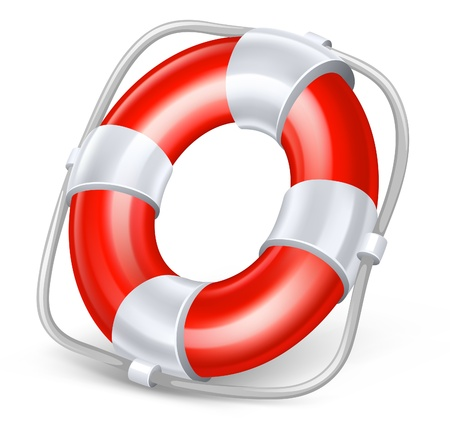 Vector illustration of life buoy on white background Vector