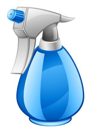 hair spray: Vector illustration of spray bottle on white background