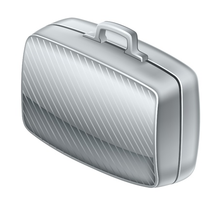 stern: Vector illustration of suitcase on white background Illustration