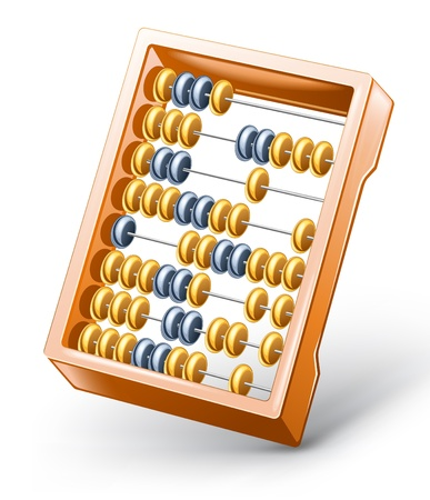 subtract: Vector illustration of abacus on white background.