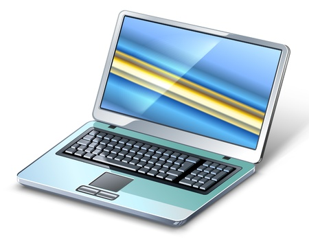 Vector illustration of laptop on white background. Stock Vector - 12497083