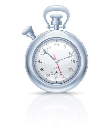 chronometer: Detailed icon of chronometer isolated on  white background. Illustration